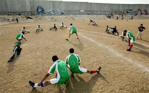 futbol palestina muro