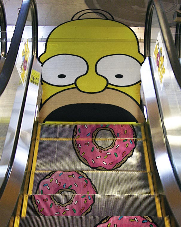 guerrilla marketing voorbeelden Homer Simpson