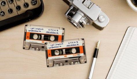 creatief visitekaartje casette