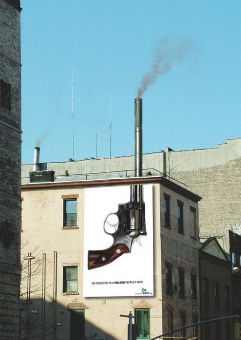 Guerrilla Marketing Voorbeeld 55 luchtvervuiling