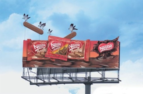 Guerrilla Marketing Voorbeeld 58 Nestle