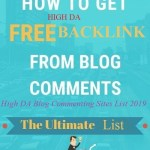 100+ High DA Blog Commenting Sites List 2019