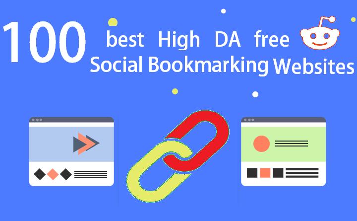 100 Free High DA Social Bookmarking Sites List 2020