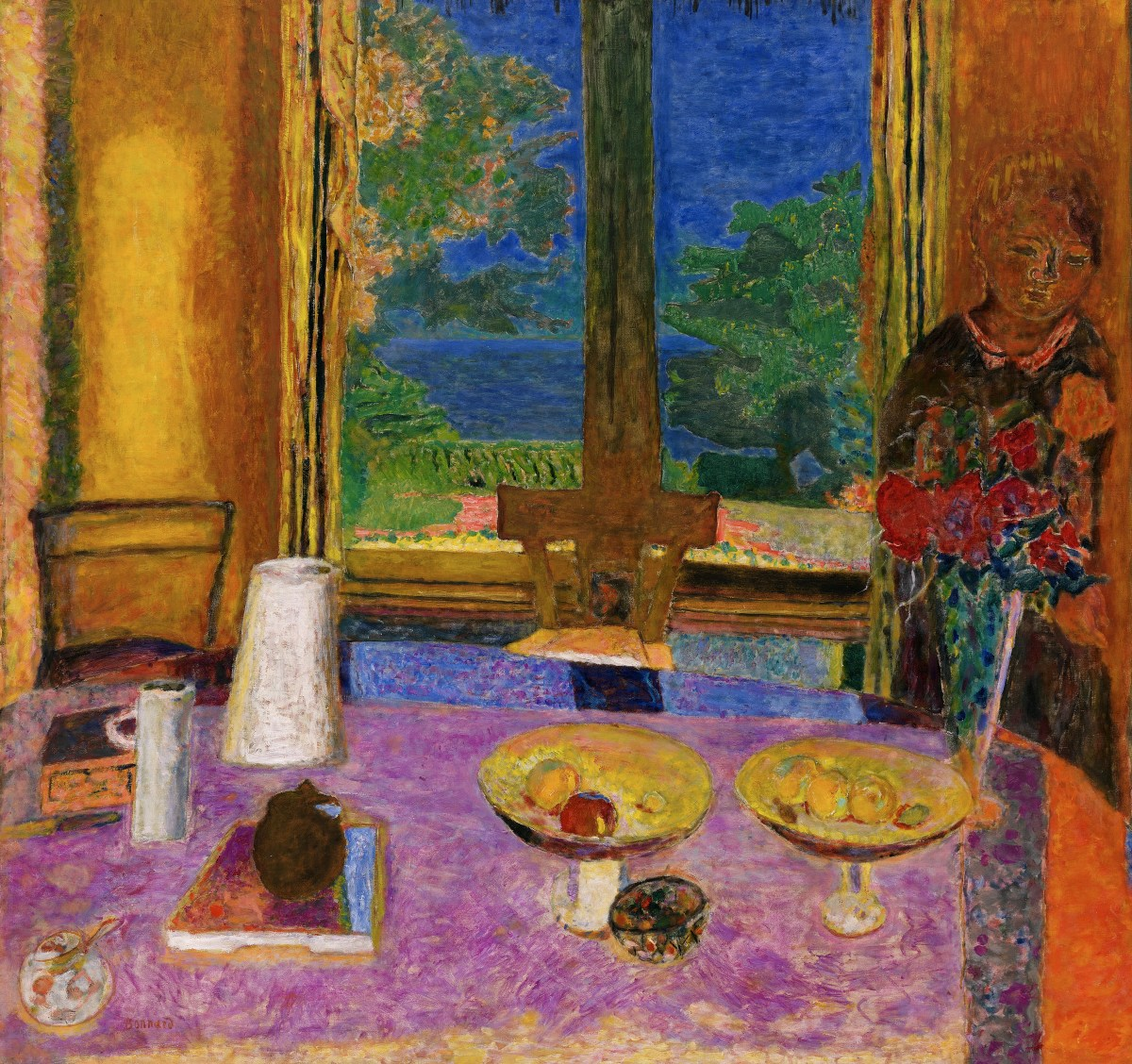Dining room on the garden for Salle a manger paris