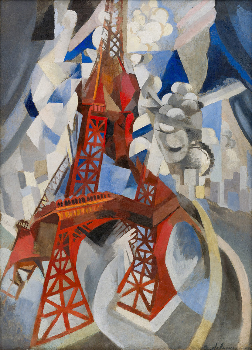 Red Eiffel Tower Painting