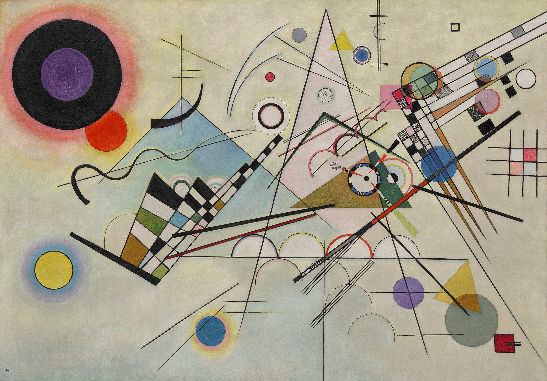 Vasily Kandinsky Composition Komposition - Physical movement turned amazing art