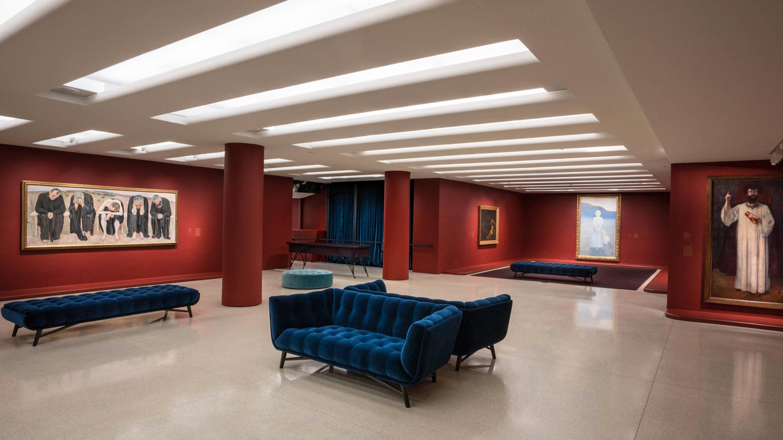 Installation view:Mystical Symbolism: The Salon de la Rose+Croix in Paris, 1892–1897, Solomon R. Guggenheim Museum, New York, June 30–October 4, 2017. Photo: David Heald