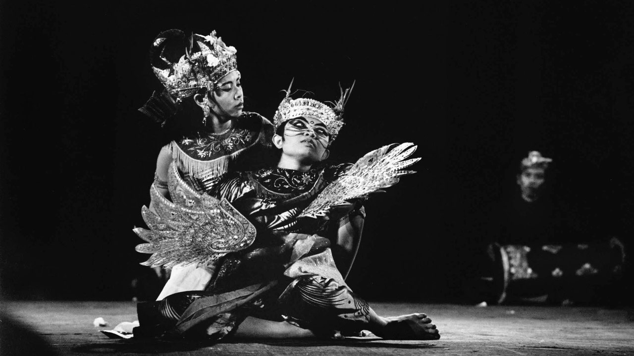Balinese Gamelan Gong Kebyar concert with traditional dancers, Open Air Theatre, 1969