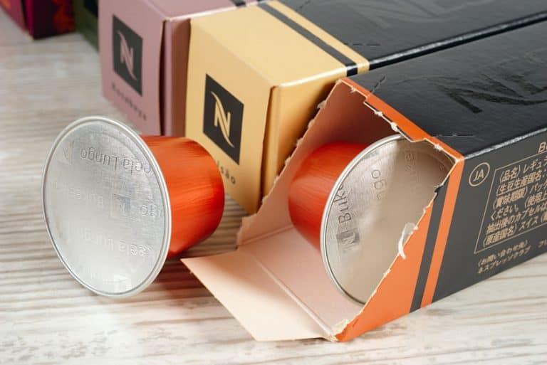 Nespresso capsule.