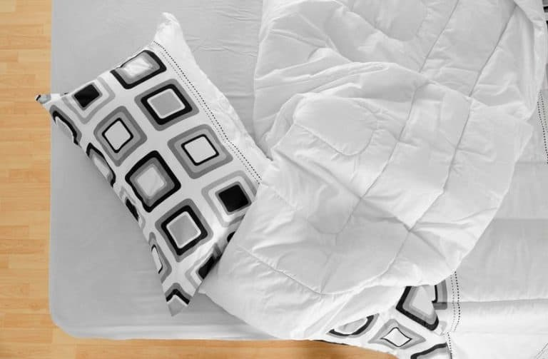 pillow and bedsheets