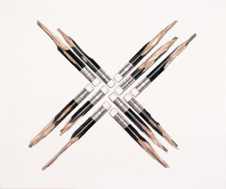 Obra. Quirarte+Ornelas. Estruturas Modulares 14.aquarela sobre papel. Expo. ECCO-7 Linhas... 11.08.14