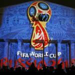 Cosmonautas russos apresentam logotipo da Copa de 2018