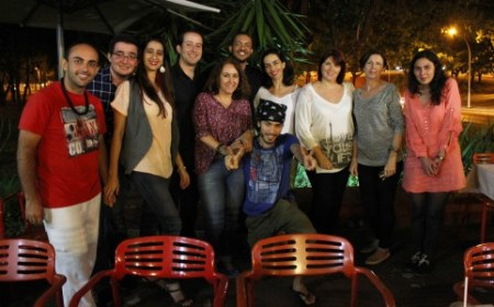 Participantes do encontro poliglota realizado na última quarta-feira no Café do Chef na Asa Norte