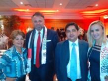 Luzia Câmara, Diretora do Portal Guia BSB.net, Embaixador da Polônia, Vanessa e amigo.