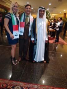 Vanessa, Luis Valadares e Diplomata de Emirados Árabes.