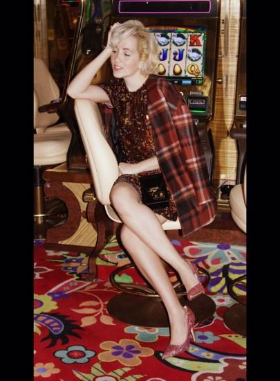 Angelica Ferrer no casino de Las Vegas