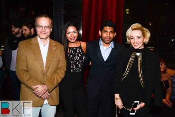 O cientista Jeffrey Wallace, a modelo Alejandra Tamez, o fotógrafo Moh Ducis e a fashionista Angelica Ferrer