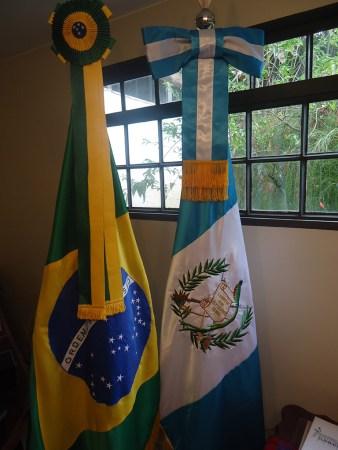 Bandeiras do Brasil e Guatemala - Foto: ASCOP/CBMDF