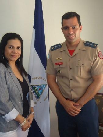 Excelentíssima Embaixadora da República da Nicarágua no Brasil, senhora Lorena Del Carmem Martinez, recebeu em audiência especial o Chefe da ASCOP/CBMDF, Major Fábio Moreira da Silva - Foto: ASCOP/CBMDF