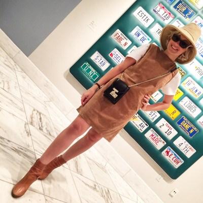 Angelica e as famosas placas estadunidense em National Gallery