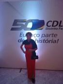 Jornalista Luzia Câmara na festa de comemoração dos 50 anos da CDL-DF e CDL Jovem
