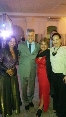 Governador Rodrigo Rollemberg, Wlakiria, Tatiana e a Jornalista Luzia Câmara na festa de comemoração dos 50 anos da CDL-DF e CDL Jovem