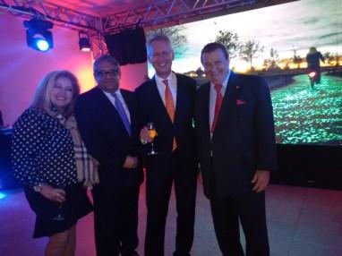 Mirley Campos, Carlos V.Jr, Embaixador Han Peters, Rubens Gallerane