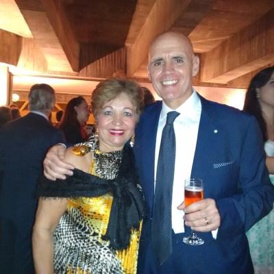 Jornalista Luzia Câmara e o Embaixador da Itália, Rafael Trombetta