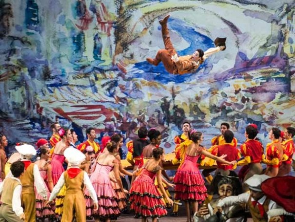 Espetáculo Don Quixote apresentado pela Escola Teatro Bolshoi Brasil (Foto: Sérgio Sanderson)