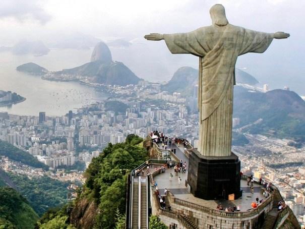 O monumento do Cristo Redentor, no alto do Corcovado (Foto: Divulgação/Pedro Kirilos/Riotur)
