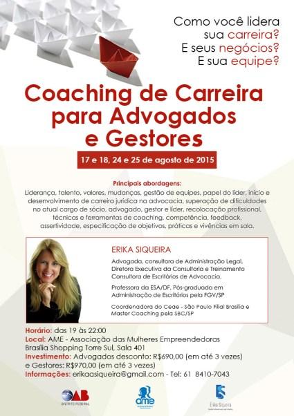 Curso de Coaching de Carreira para Advogados e Gestores