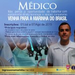 Marinha abre 100 vagas para Médicos