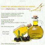 Curso de aromatização de azeites com o Chef Luis Vieira e o Chef Estevão Santoro