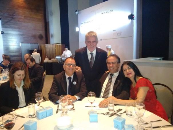 Cléber Pires e Esposa, Vida Pires, Presidente da ACBDF, Nilton, Delfino e Esposa