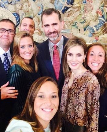 Os reis da Espanha reunidos com a família