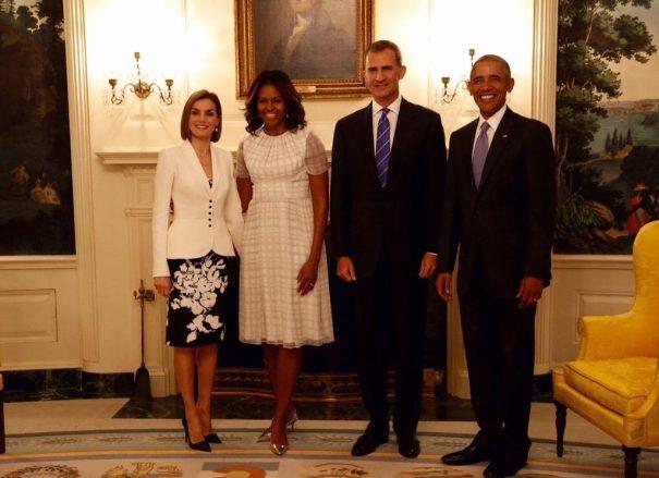Os reis da Espanha com o presidente Obama e Sra. Michele Obama