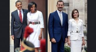 Os reis da Espanha e senhora e senhor Obama