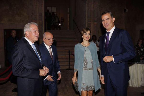 Letizia em seu último evento em Washington DC sempre muito elegante