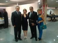 S.E. Embaixador da Turquia, Huseyin Dlrloz, Sônia Chiabai, Carlos Vieira Jr., Chefe de Cerimonial CLDF, Luzia Câmara