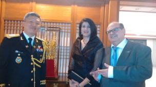 Adido Militar da Coréia do Sul, Beatriz e Cláudio da Secretária Internacional do GDF