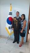 Casal da Embaixada do México prestigiando o evento