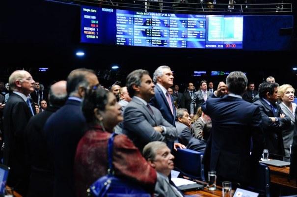 Delcídio do Amaral. O painel registrou 59 votos a favor, 13 contrários e uma abstenção - Foto: Marcos Oliveira/Agência Senado