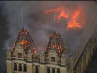 Incêndio no Museu da Língua Portuguesa (Foto: Reprodução)