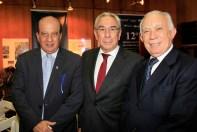 Ministro do TCU Augusto Nardes, Francisco Ribeiro Telles e o presidente da Fecomércio, Adelmir Santana