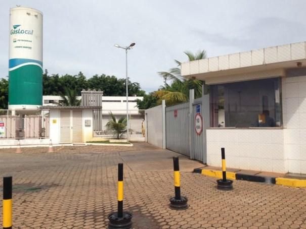 Portaria da Cascol, uma das distribuidoras de combustíveis alvo de operação da PF e do Ministério Público (Foto: Gabriel Luiz/G1)