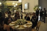 Drª Rita Trindade, Esposo na mesa com Adido Militar e esposa da Embaixada do Egito