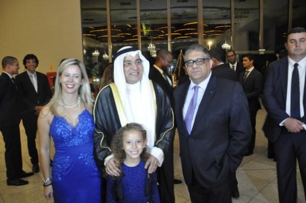 Clênia, filha, Carlos Viera Jr, Chefe do Cerimonial da CLDF