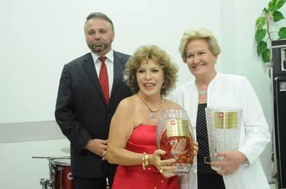 Embaixador da República da Polônia, Andrzej M. Braiter, Professora Closete Gebrim e a Senadora Ana Amélia