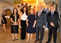 Sra Nada M. Ben, Sra Hoda S. Twal, Sônia Bachtobji, S.E. Embaixador da Jordânia, Malek Tawl, Sr. Salah M. M. El-Qatta