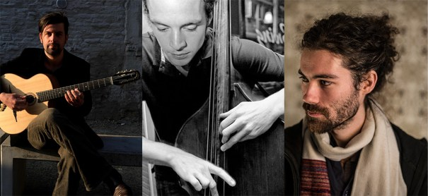 Nathan Daems (Tenor saxofone), Bart Vervaeck (Guitarra) e Lieven Van Pee (Baixo) apresentam-se hoje, 23/05, no Clube do Choro - Divulgação